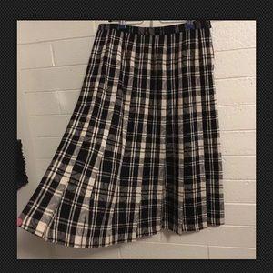 Vintage Pendelton Skirt Size 14 Black And White